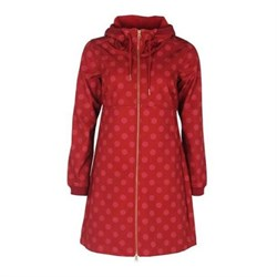 Danefæ Line Softshell Jakke Dark BrickCold Rose Fun dots