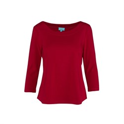 LaLamour Bluse Shirt 34 Sleeves Plain Red