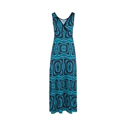 LaLamour Long Dress Wave Black/Turquoise