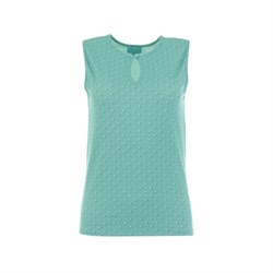LaLamour High Neck Sleeveless Top Pearly Turquoise