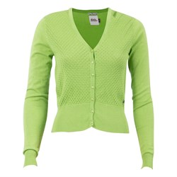 Bad Girls - Lime farvet strik cardigan fra 4FunkyFlavours