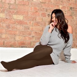 Pamela Mann Strømpebukser 50 Denier Curvy Super Stretch Tights Chocolate