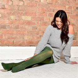 Pamela Mann Strømpebukser 50 Denier Curvy Super Stretch Tights Leaf Green