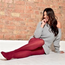 Pamela Mann Strømpebukser 50 Denier Curvy Super Stretch Tights Maroon