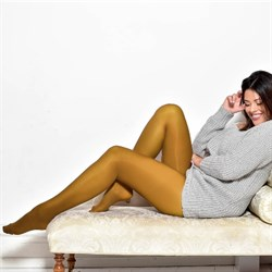 Pamela Mann Strømpebukser 50 Denier Curvy Super Stretch Tights Mustard