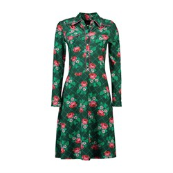 Tante Betsy Kjole Dress Texas Rose Stich Green