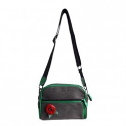 Urban Hippies Black Dailybag Red Rose