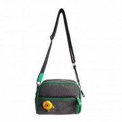 Urban Hippies Black Dailybag Yellow Rose