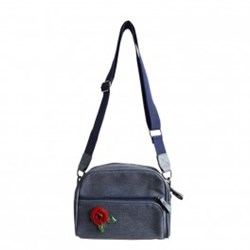 Urban Hippies Blue Dailybag Red Rose