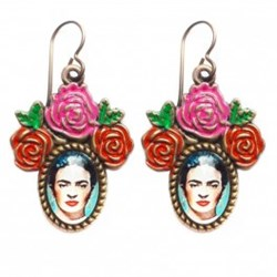 Frida Pink Earrings fra Urban Hippies