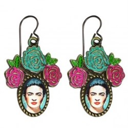 Frida Pink/Blue Earringss fra Urban Hippies